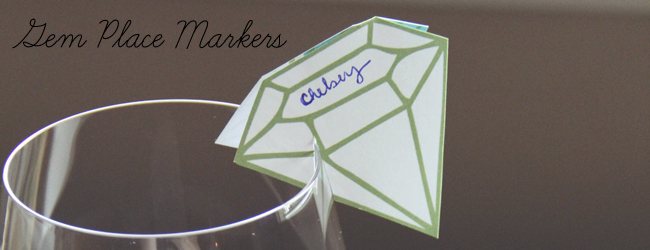 Day 26 of my 50 DIY Days of Christmas: Gem Place Markers // thepapermama.com