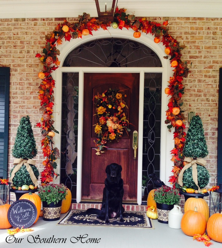 Wow. This Fall door is beautiful. Found on Our Southern Home.
