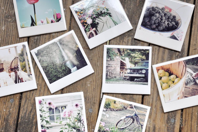 Find some favorite photos to create these Homemade Polaroid Coasters, on Darkroom & Dearly.