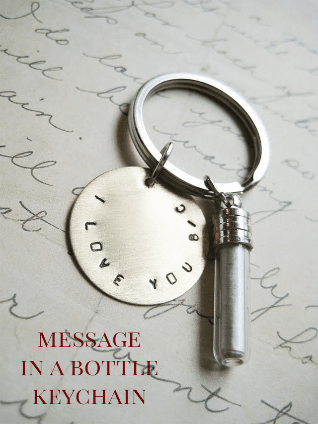 DIY Message in a Bottle Jewelry or Keychain