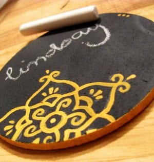 Chalkboard Coasters . How To-sday thumbnail