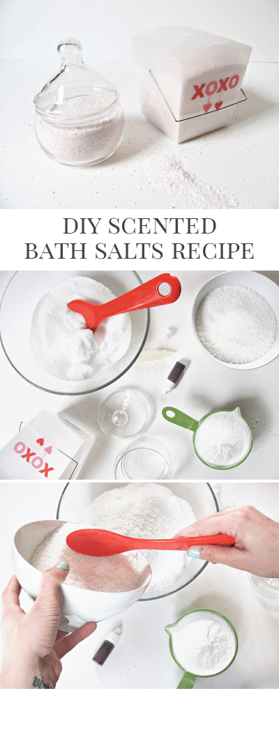 DIY Scented Bath Salts Tutorial and Recipe