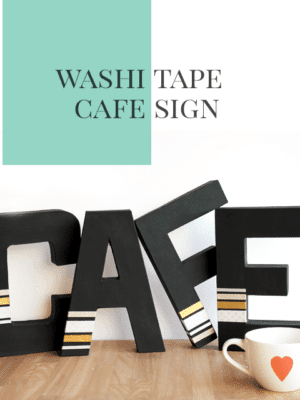 Washi Tape Paper Mache Letters Tutorial thumbnail