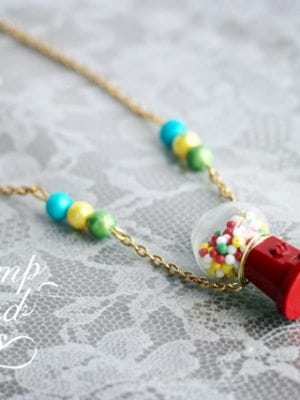 Vintage Gumball Machine Necklace Tutorial thumbnail