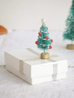 Mini Christmas Tree Gift Wrap Embellishment – How To-sday thumbnail