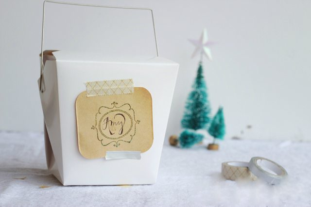 Quick Easy Embossed Stamped Holiday Gift Tag DIY Tutorial
