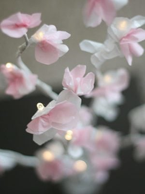 How to Make a DIY Glowing Cherry Blossom Branch Centerpiece thumbnail