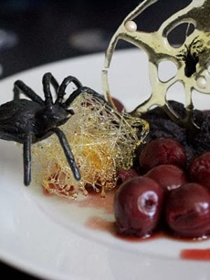 Spun Sugar Spiderweb Dessert – Good Eats thumbnail
