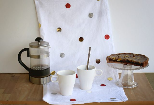 Confetti Christmas Tea Towel