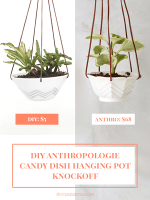 DIY Anthropologie Candy Dish Hanging Pot Knockoff thumbnail