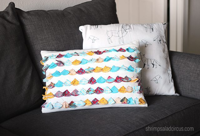 DIY Anthropologie Tasseled Jacare Pillow 8