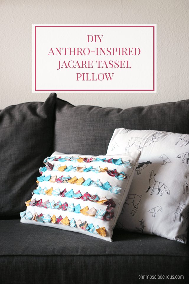 DIY Anthropologie Tassel Pillow