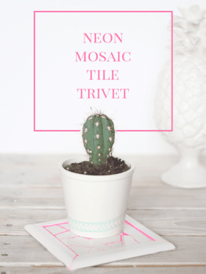 Neon Mosaic Tile Trivet – How To-sday thumbnail
