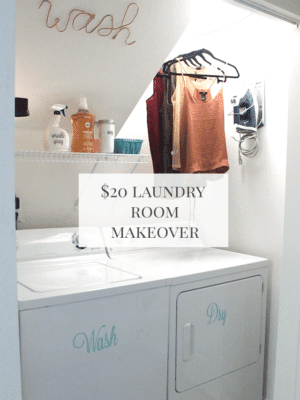 Budget Laundry Room Makeover thumbnail