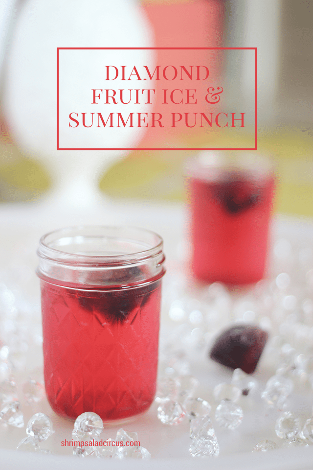 Diamond Fruit Ice Cubes and Summer Punch Recipe