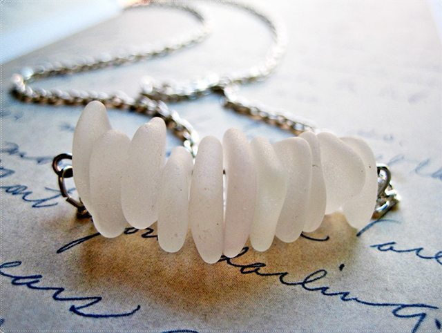 Sea Glass Necklace Tutorial