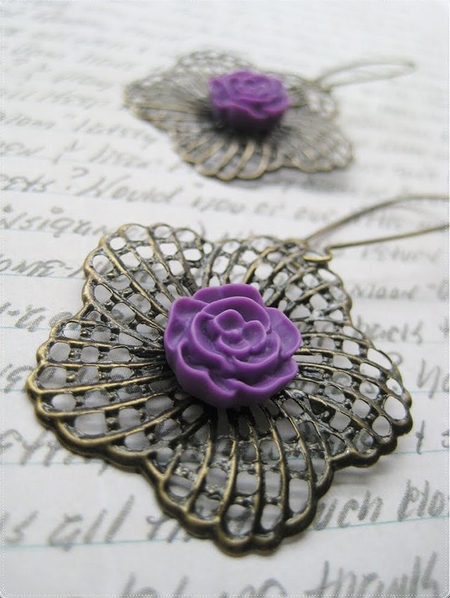 Vintage Floral Filligree Earrings