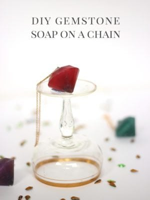 DIY Gemstone Soap on a Chain thumbnail