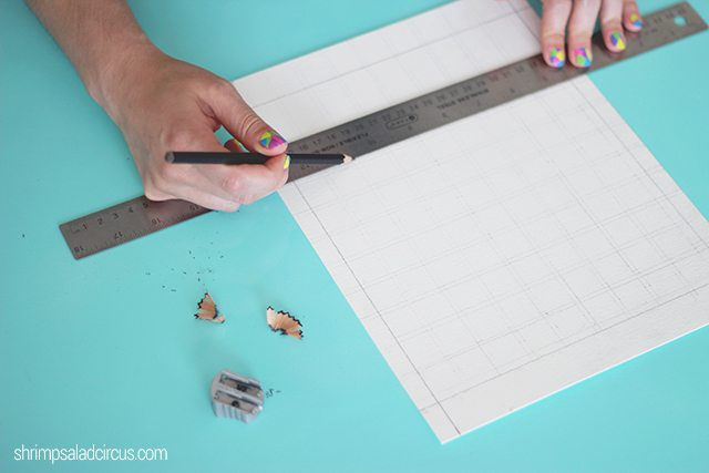 DIY Watercolor Paint Chart Step 1