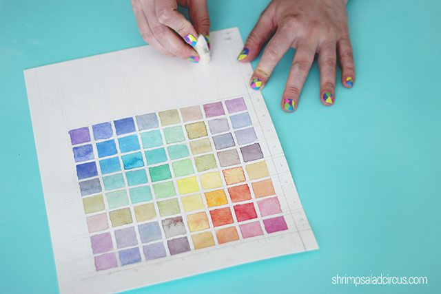 DIY Watercolor Chart Step 5