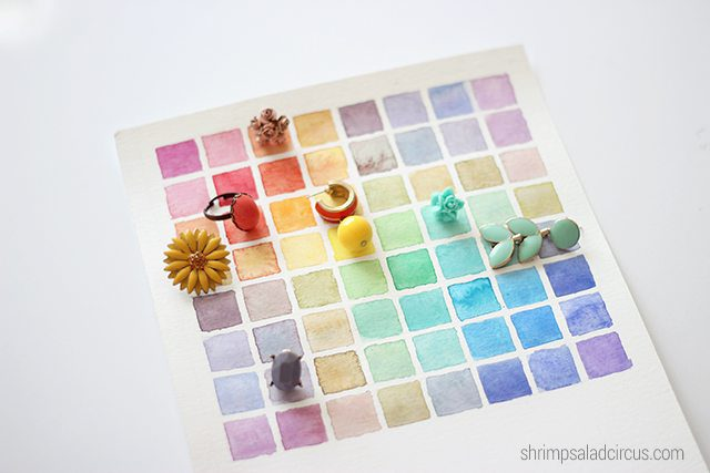 DIY Watercolor Chart with Jewelry