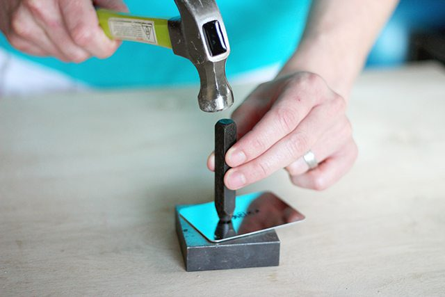 DIY Stamped Metal Bar Tags - Step 2