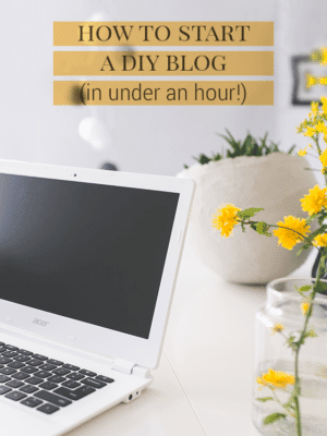How to Start a DIY Blog in Under an Hour thumbnail