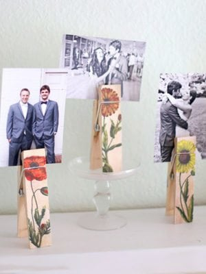 DIY Botanical Photo Holder Clips + Free Printable – How To-sday thumbnail