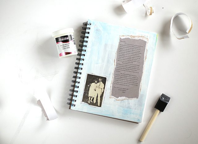 Mixed Media Sketchbook Cover - Step 2