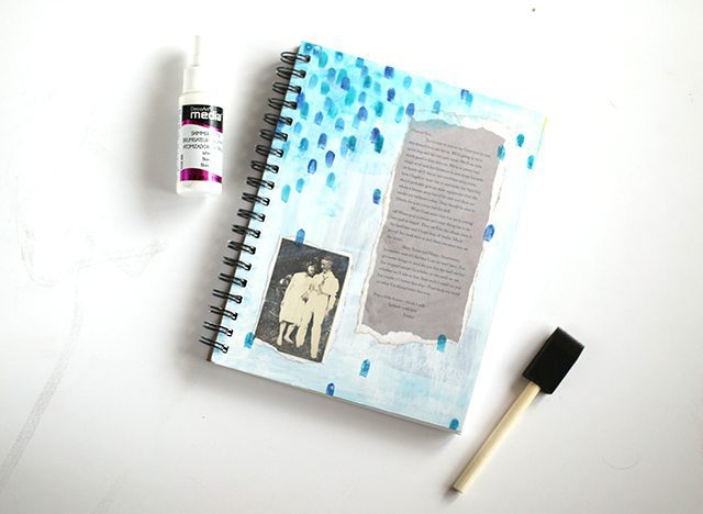 Mixed Media Sketchbook Cover - Step 4