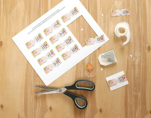 Free Printable Tea Bag Tags - Print and Cut