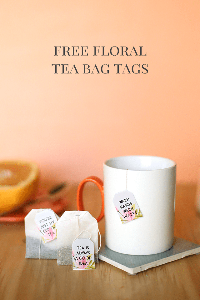 Free Printable Tea Bag Tags by Shrimp Salad Circus
