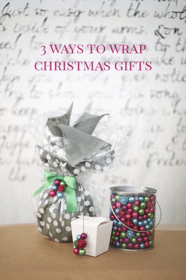 How to Wrap Christmas Presents - 3 Ways
