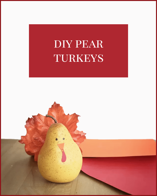 Thanksgiving Turkey Pears