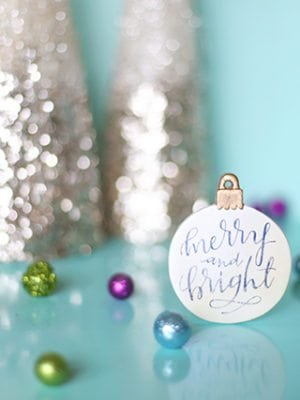 DIY Calligraphy Christmas Ornament with Free Image Transfer thumbnail