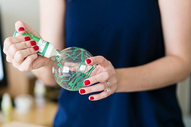 DIY Galaxy and Planet Christmas Ornaments - Step 1