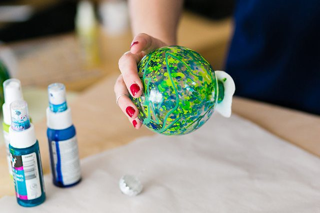 DIY Galaxy and Planet Christmas Ornaments - Step 4