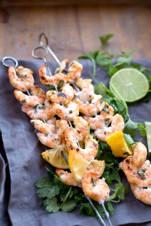 Citrus Marinated Shrimp Kabobs for Grilling