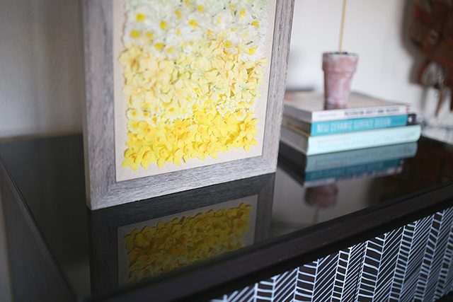Ombre DIY Floral Wall Art - Step 5