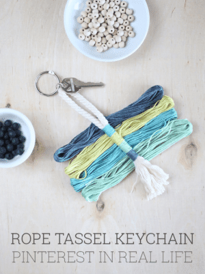 DIY Rope Tassel Keychain – Pinterest in Real Life thumbnail
