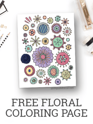 Free Floral Coloring Page Printable – Freebies thumbnail