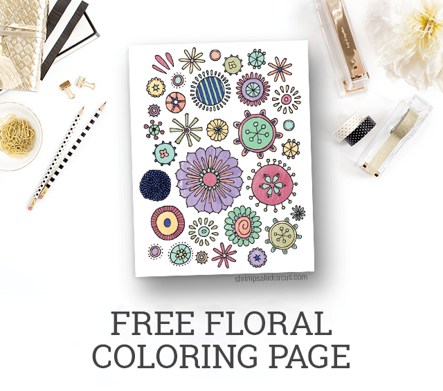 Printable Adult Coloring Pages - Free Floral Coloring Page