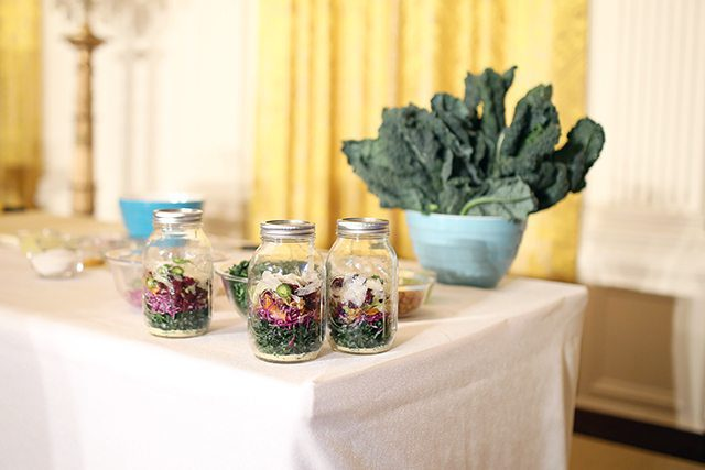 Salad in a Jar Healthy Meal Prep Demonstration at the White House for Let's Move! Initiative