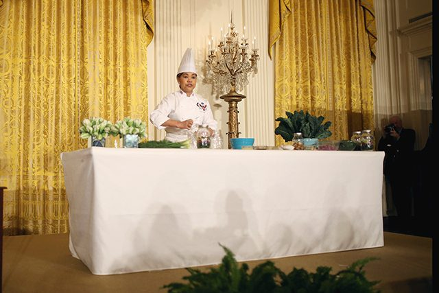 White House Chef Cristeta Comerford Giving a Healthy Meal Prep Demonstration for Let's Move!