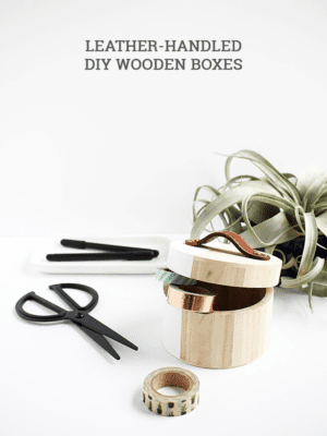 DIY Leather Handles on Boxes – How To-sday thumbnail