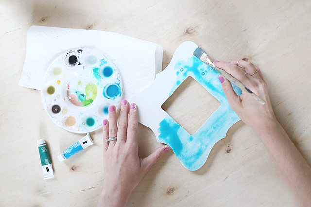 Watercolor Painted Wooden Picture Frame - Step 3 - Watercolor Paint
