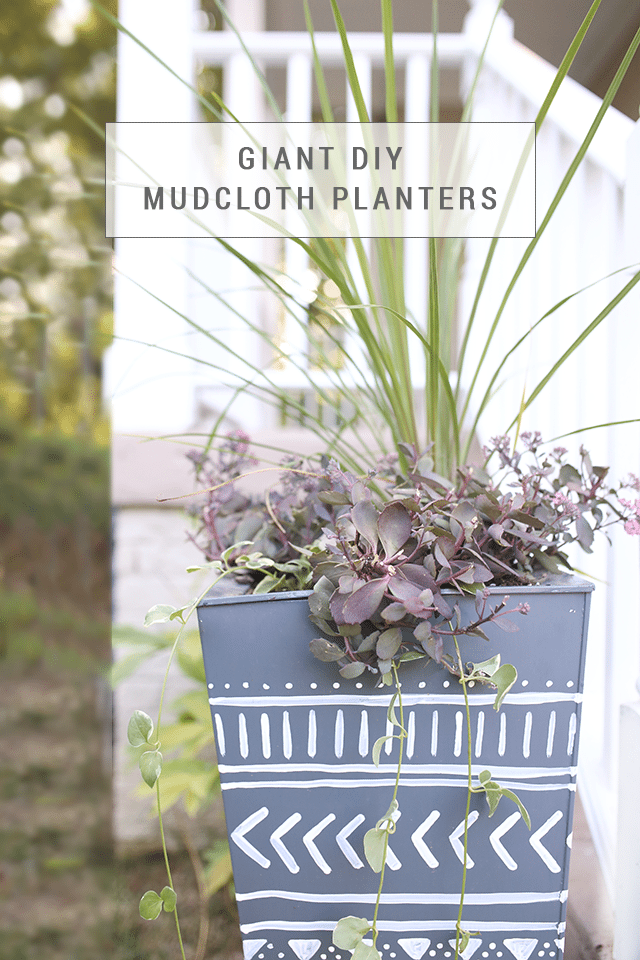 Giant DIY Mudcloth Planter Tutorial