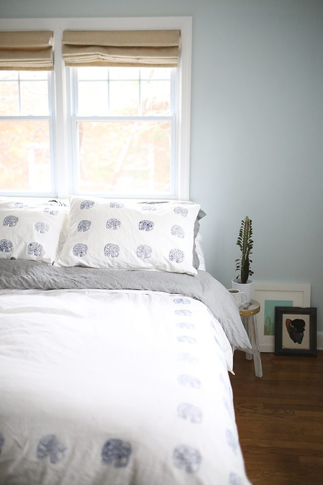 How to Block Print Fabric - Create a custom bedding set!