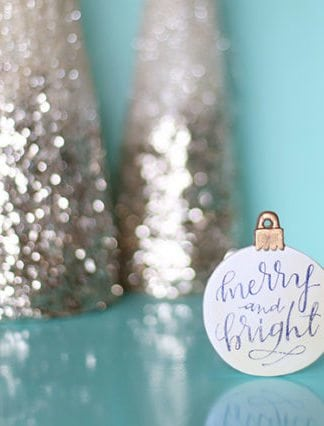 DIY Image Transfer Christmas Ornaments With Free Printable thumbnail