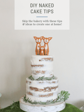 How to Make a DIY Naked Cake for a Party or Baby Shower thumbnail